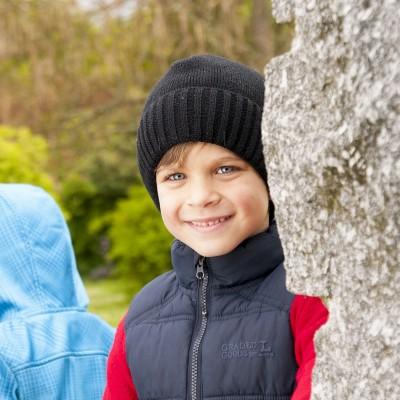 Dětská pletená čepice jednobarevná