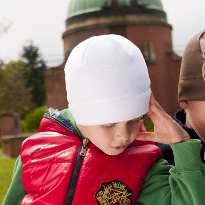 Dětská Hugo fleece čepice jednobarevná hladká