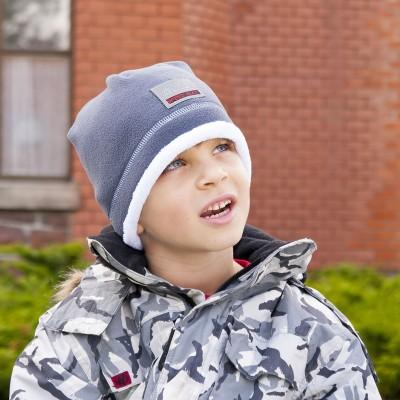 Dětská Hugo čepice s fleece a reflexní aplikací