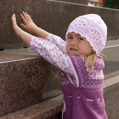 dívčí pletená síťka dírkovaná