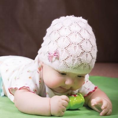 Dívčí pletená síťka jednobarevná