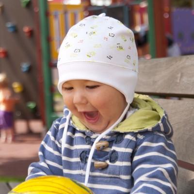 Dětská - kojenecká bavlněná čepička