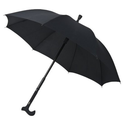 Pánský holový deštník Walker 2 v 1 - černý