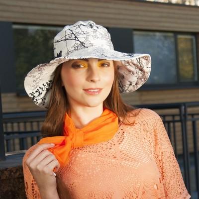 Dámský bavlněný klobouk se širší krempou