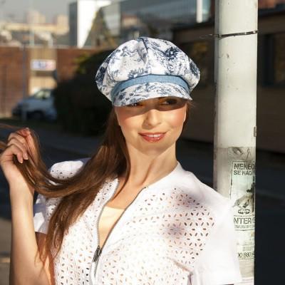 Dámská bavlněná čepice s kšiltem a gumou