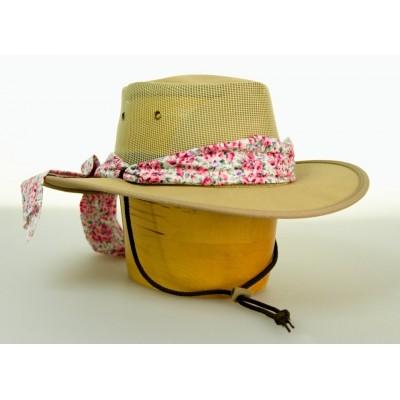 dámský australský klobouk s mašlí a šnůrkou