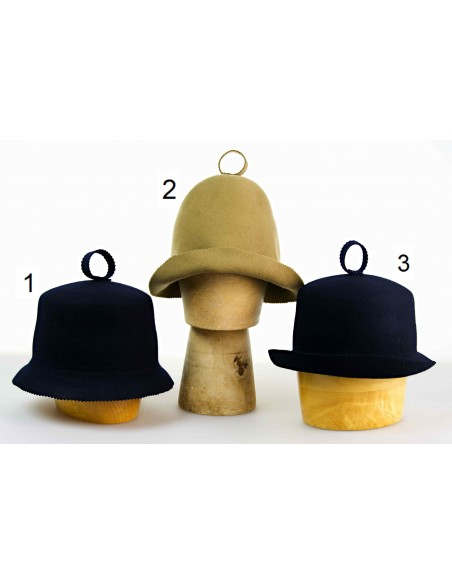 Čepice do sauny vyrobena ze 100% vlny.