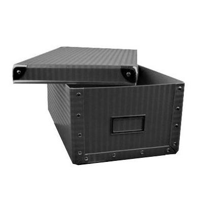 Krabice hranatá 26cm šedá