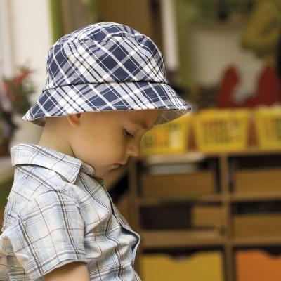 Dětský bavlněný klobouk s rovnou hlavou