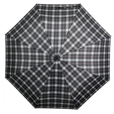 pánský skládací deštník SENATOR - LUX - černo-bílý