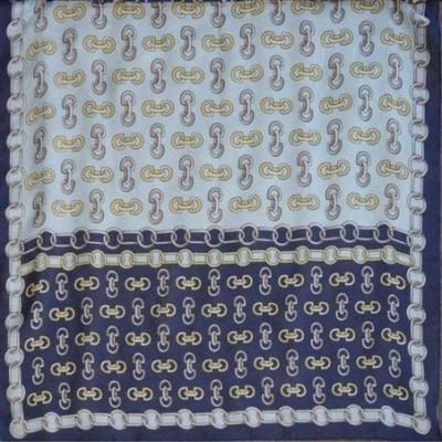 Dámský šátek chiffon 53x53 vzorovaný - vzor řetěz