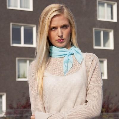 dámský šátek šifon jednobarevný 53x53