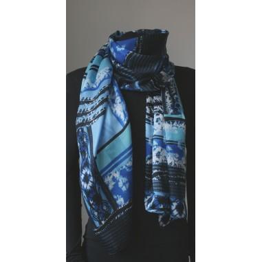 Dámský šátek pestrobarevný 90x90