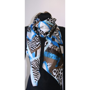 Dámský šátek vzorovaný 90x90