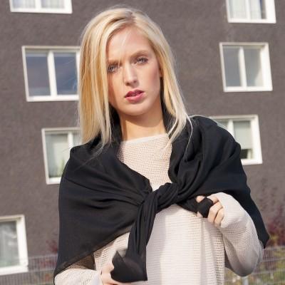 dámský šátek šifon jednobarevný 90x90