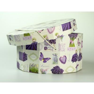 Papírová klobouková krabice 12-ti hran průměr 35cm