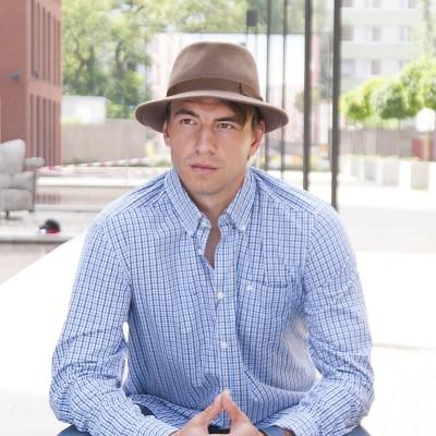 Pánský plstěný klobouk