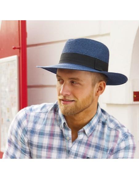 Unisex papírový klobouk se širokou krempou a stuhou