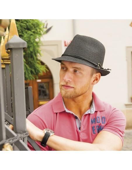 Unisex papírový klobouk zdobený provázkem