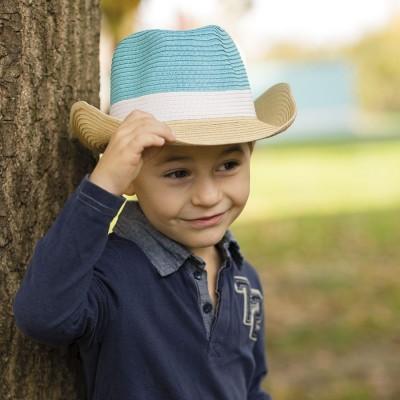 Chlapecký papírový klobouk se širokou krempou kovboj