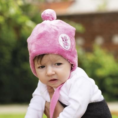 Dětská čepice fleece podšitá bavlnou s aplikací