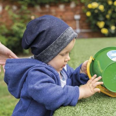 Dětská fleece čepice na ohrnutí
