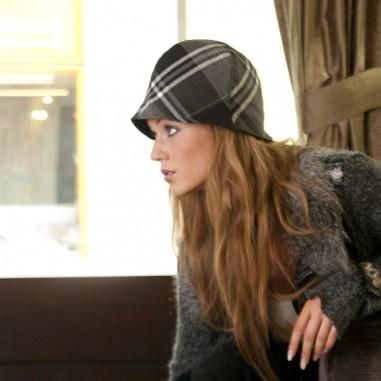 Dámský dílkový klobouk s malou krempou