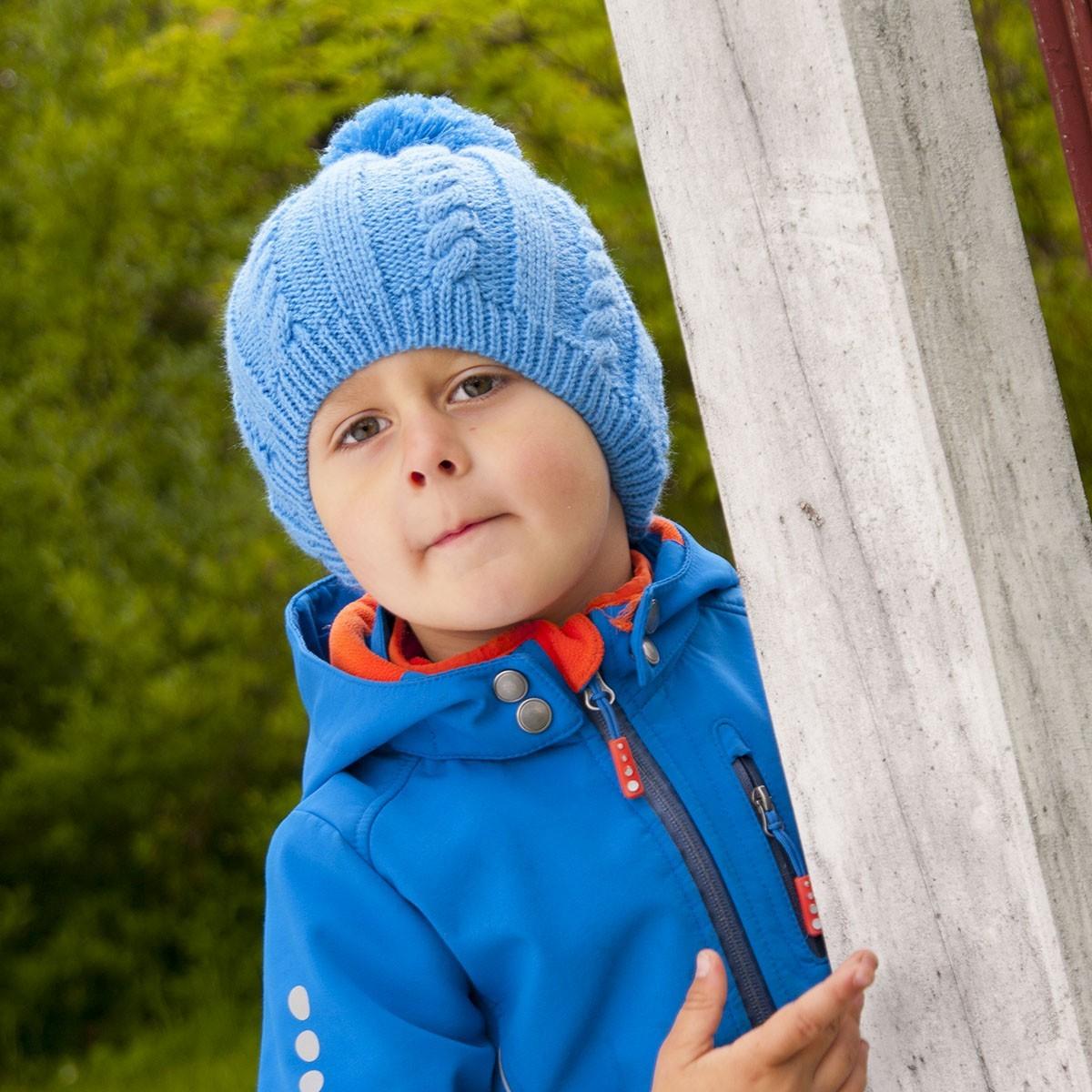 Chlapecká pletená čepice se vzorem
