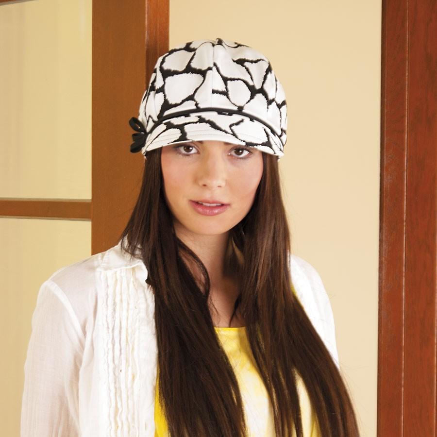 Dámská bavlněná čepice s kšiltem