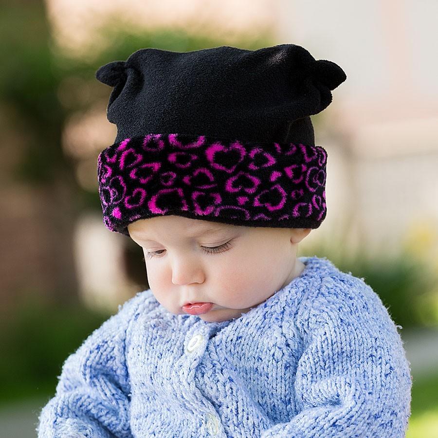 Kojenecká fleece čepice s lemem