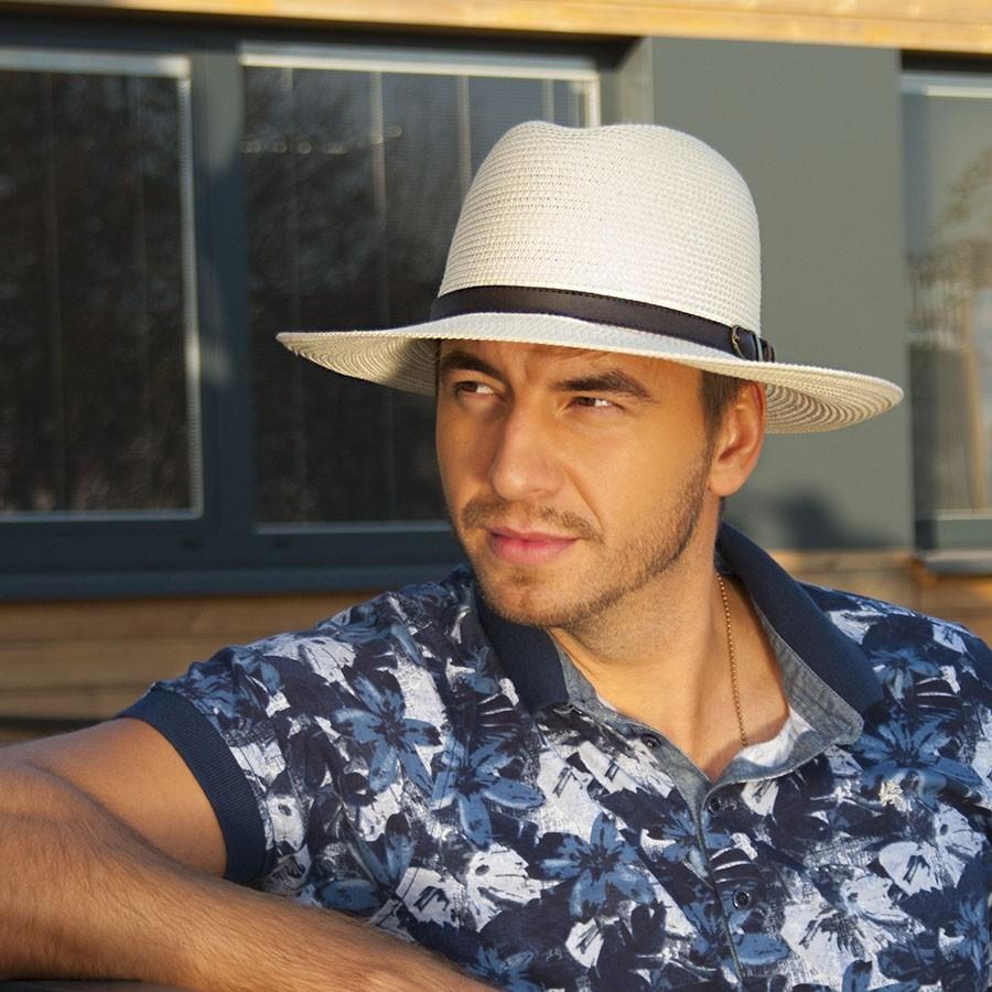 Pánský papírový klobouk se širokou krempou