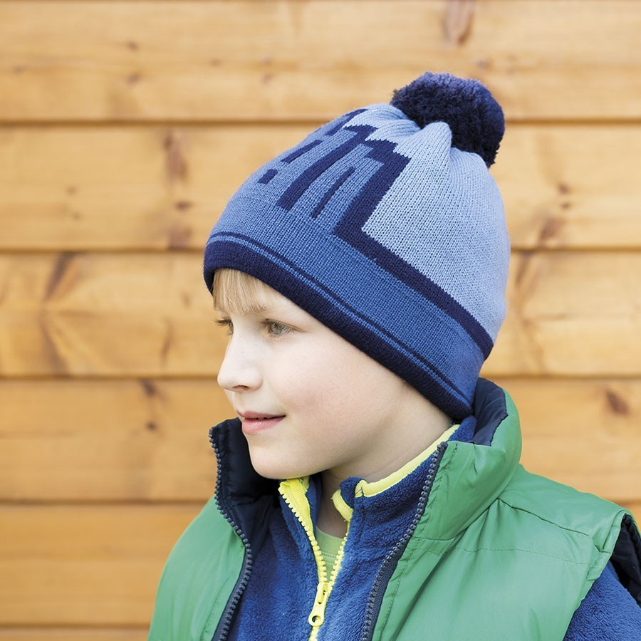 Pletená čepice fleece s podšívkou