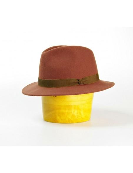 Vlněný klobouk s rypsovou stuhou