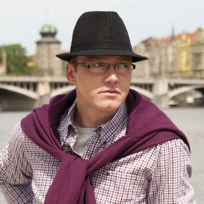 pánský šitý klobouk...