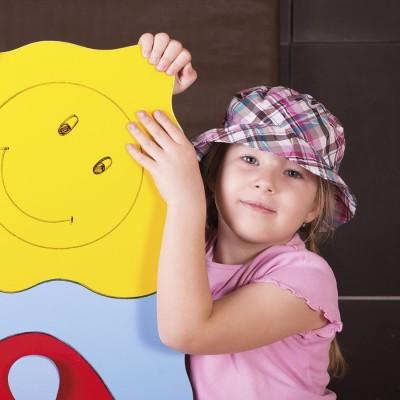 Dětský károvaný klobouk