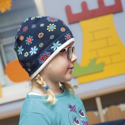 Úpletová čepice s paspulou...