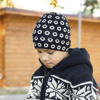 Dětská úpletová čepice s potiskem