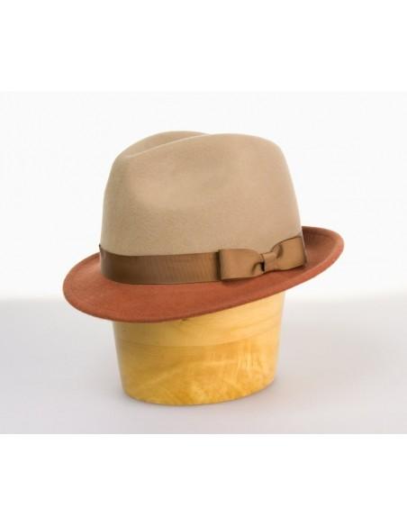 Unisex vlněný klobouk dvoubarevný