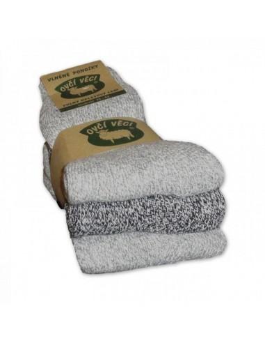 Vlněné ponožky z ovčí vlny 3 kusy 425g