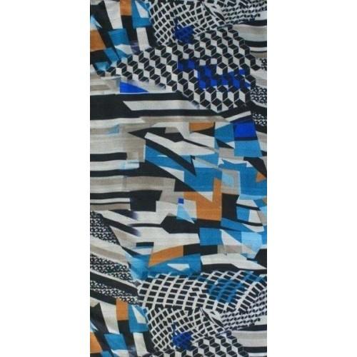 dámský šátek šifon vzorovaný 53x53