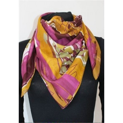 Dámský bavlněný vzorovaný šátek 90x90