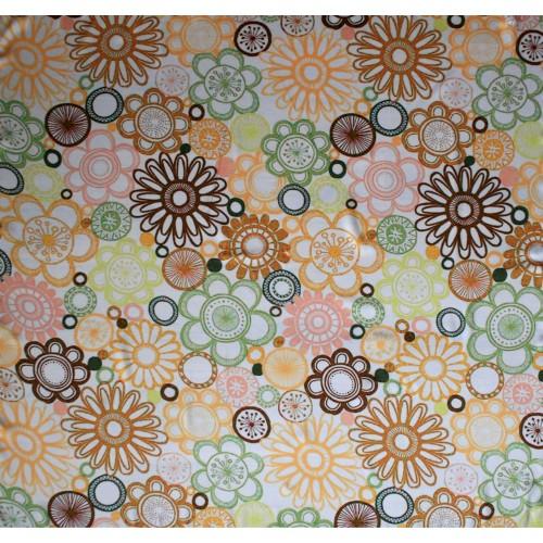 Dámský šátek pestrobarevný motiv květiny 36x160
