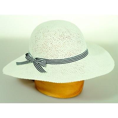 Dámský papírový klobouk se stuhou
