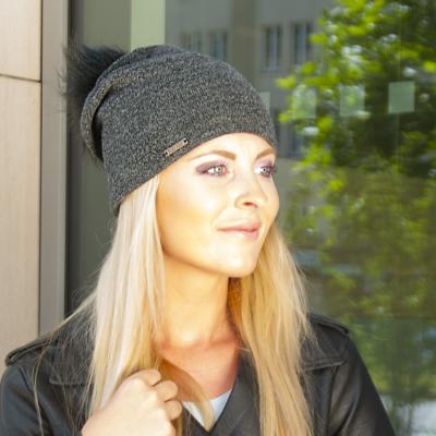 Pletená prodloužená čepice s fleece