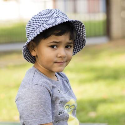 Bavlněný klobouk s rovnou hlavou