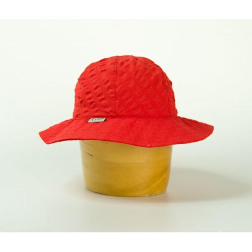 Dámský krepový  klobouk s malou krempou