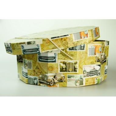 Papírová klobouková krabice 12-ti hran průměr 45cm