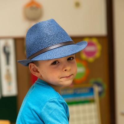 Chlapecký papírový klobouk...