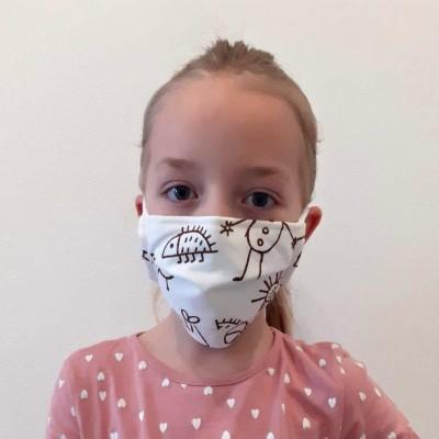 Dětská módní rouška -...
